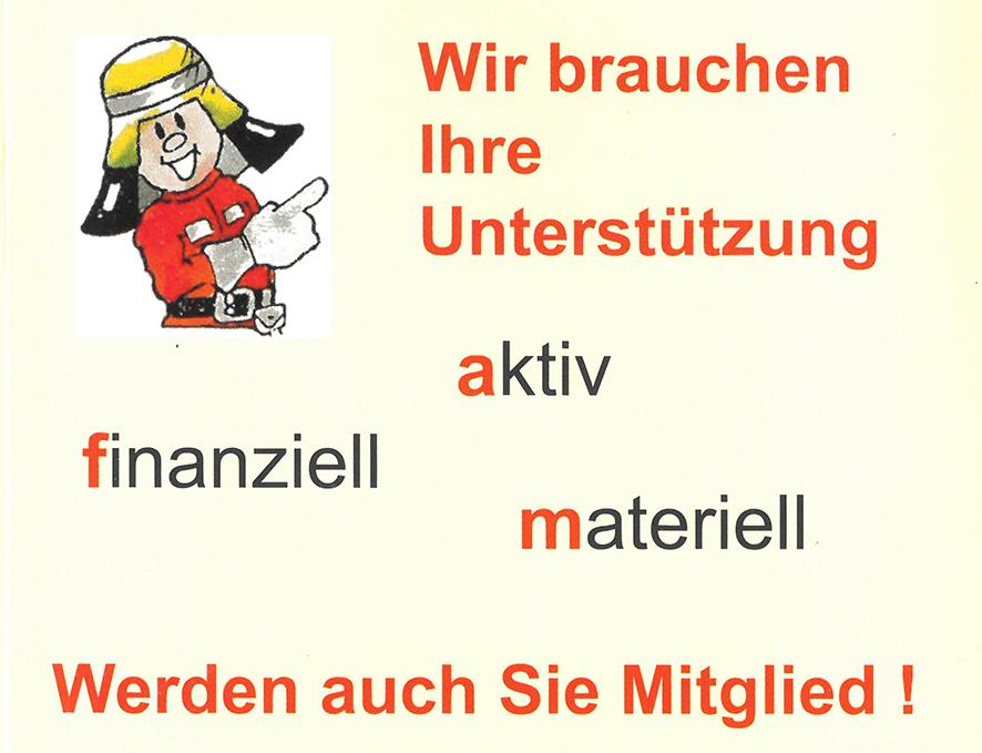 Spendenaufruf - Mitgliederwerbung